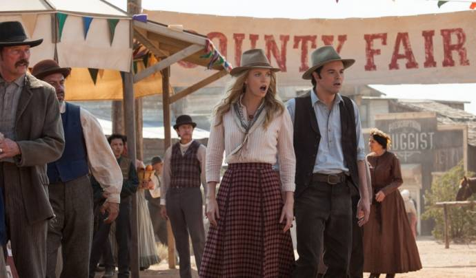 Charlize Theron (Anna) en Seth MacFarlane (Albert) in A Million Ways to Die in the West