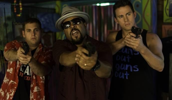 Jonah Hill (Schmidt), Ice Cube (Captain Dickson) en Channing Tatum (Jenko)