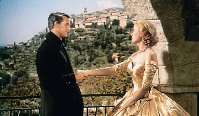 Cary Grant (John Robie) en Grace Kelly (Frances Stevens)