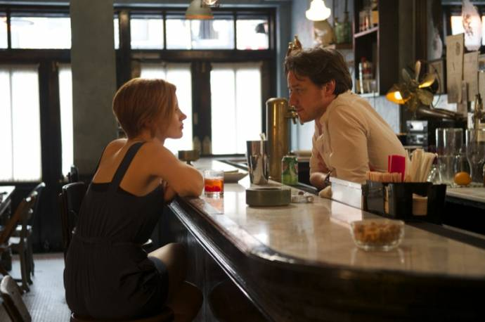 Jessica Chastain (Eleanor Rigby) en James McAvoy (Conor Ludlow)