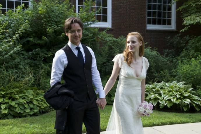 James McAvoy (Conor Ludlow) en Jessica Chastain (Eleanor Rigby)