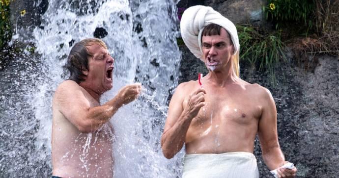Jeff Daniels (Harry Dunne) en Jim Carrey (Lloyd Christmas)