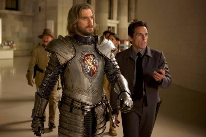 Dan Stevens (Sir Lancelot) en Ben Stiller (Larry Daley)