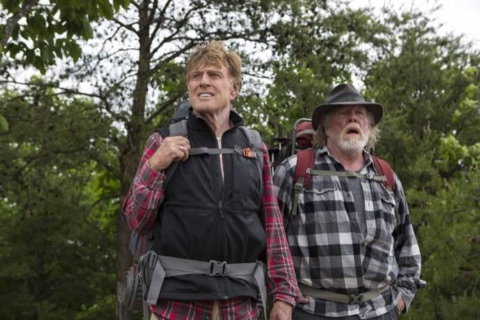 Robert Redford (Bill Bryson) en Nick Nolte (Stephen Katz)