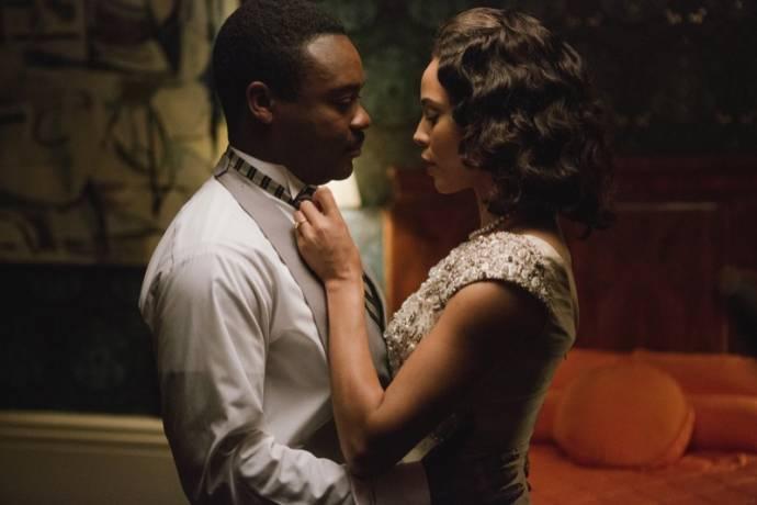 David Oyelowo (Martin Luther King Jr.) en Carmen Ejogo (Coretta Scott King) in Selma