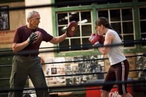 Clint Eastwood en Hilary Swank