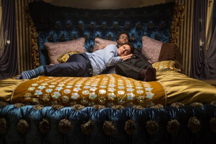 James Franco (David Skylark) en Seth Rogen (Aaron Rappaport)