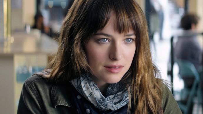 Dakota Johnson (Anastasia Steele) in Fifty Shades of Grey