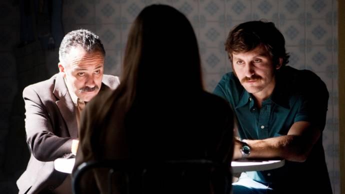 Raúl Arévalo (Pedro) en Javier Gutiérrez (Juan)