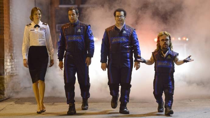 Michelle Monaghan, Adam Sandler (Sam Brenner), Josh Gad en Peter Dinklage