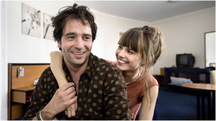 Jeroen Spitzenberger (Wouter) en Katja Herbers (Nicole)
