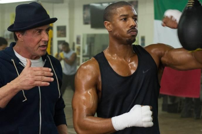 Sylvester Stallone (Rocky Balboa) en Michael B. Jordan (Adonis Johnson)