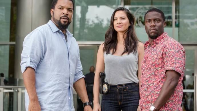 Ice Cube (James Payton), Olivia Munn (Maya Cruz) en Kevin Hart (Ben Barber)