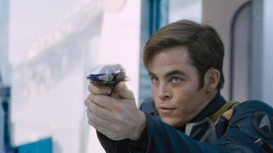 Chris Pine (Kirk) in Star Trek Beyond
