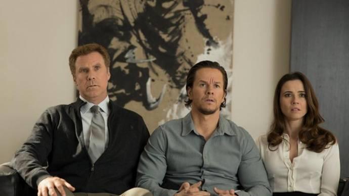 Will Ferrell (Brad), Mark Wahlberg (Dusty) en Linda Cardellini (Sarah) in Daddy's Home