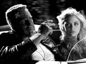 Mickey Rourke en Jessica Alba