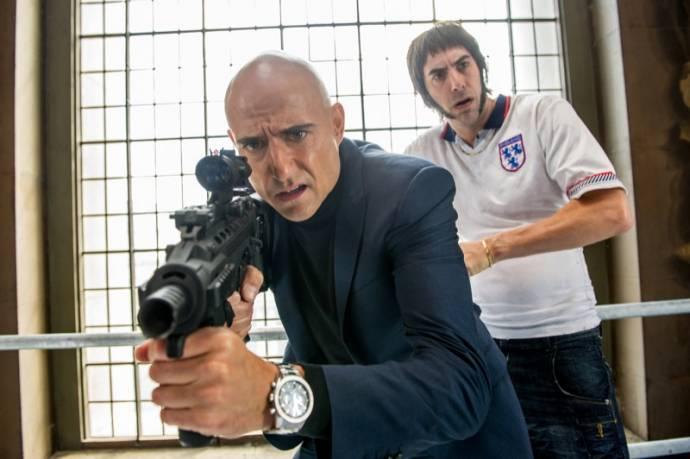 Mark Strong (Agent Sebastian Grimsby) en Sacha Baron Cohen (Norman 'Nobby' Grimsby)