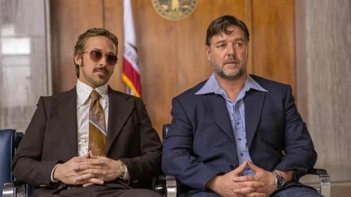 Ryan Gosling (Holland March) en Russell Crowe (Jackson Healy)