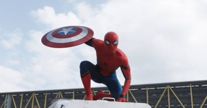 Tom Holland (Peter Parker / Spider-Man) in Captain America + Avengers Marathon