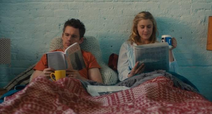 Ethan Hawke (John) en Greta Gerwig (Maggie)