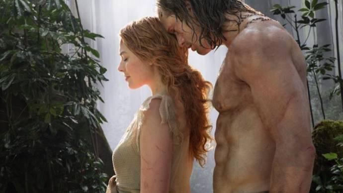 Margot Robbie (Jane Porter) en Alexander Skarsgård (Tarzan)
