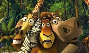 De hoofdrolspelers in Madagascar