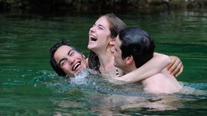 Rimau Ritzberger Grillo (Lorenzo), Valentina Romani (Blu) en Leonardo Pazzagli (Antonio)