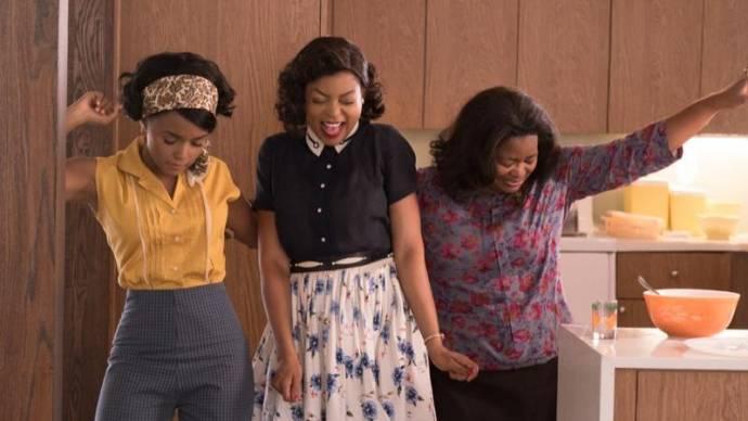 Taraji P. Henson (Katherine Johnson), Janelle Monáe (Mary Jackson) en Octavia Spencer (Dorothy Vaughn)