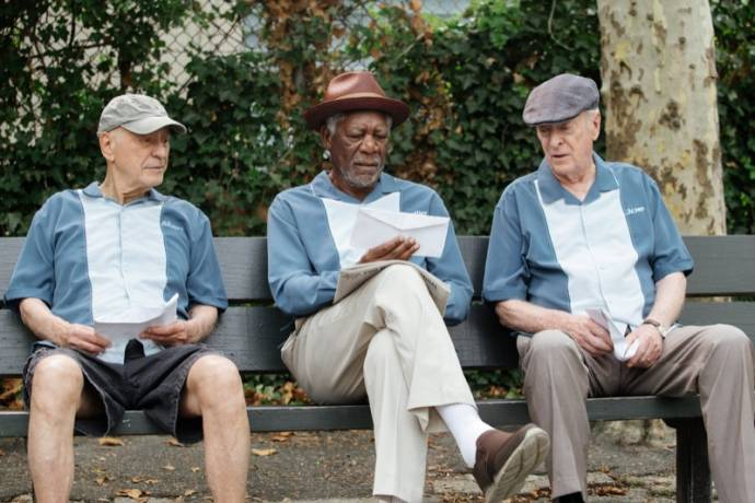 Alan Arkin (Albert), Morgan Freeman (Willie) en Michael Caine (Joe)