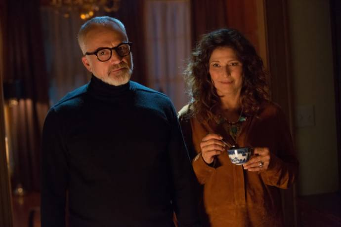 Bradley Whitford (Dean) en Catherine Keener (Missy) in Get Out