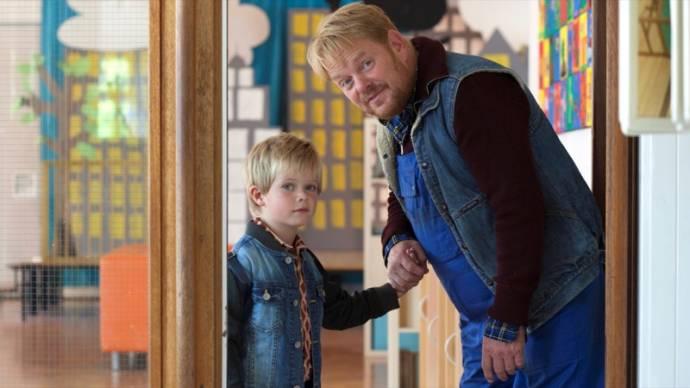 Liam de Vries (Dikkertje Dap) en Martijn Fischer (Opa)
