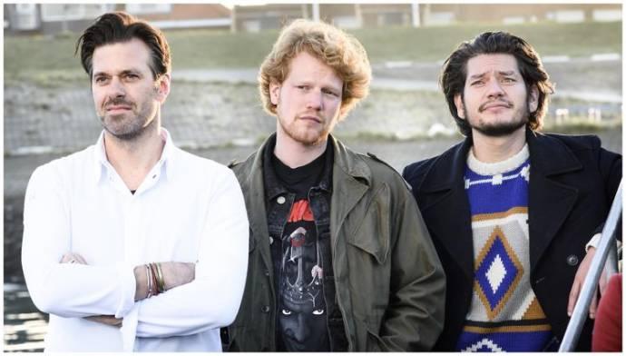 Lykele Muus (Lennaert), Pepijn Schoneveld (Rob) en Maarten Heijmans (Stijn)