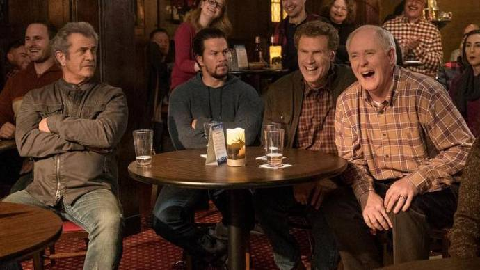 Mel Gibson (Dusty's Dad / Mr. Mayron), Mark Wahlberg (Dusty Mayron), Will Ferrell (Brad Whitaker) en John Lithgow (Brad's Dad / Mr. Whitaker)