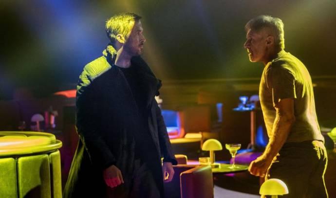 Ryan Gosling (Officer K) en Harrison Ford (Rick Deckard)