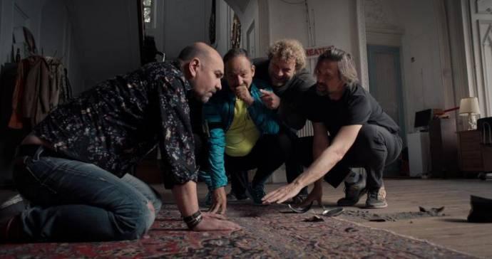 Cees Geel, Bas Keijzer (Dave), Steef Cuijpers (Lo) en Johan Heldenbergh (Alex)