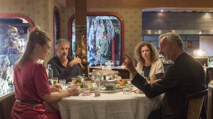 Elise van 't Laar (Coco), Leopold Witte (Hans), Margot Ros (Miriam) en Stefan de Walle (Wilbert)