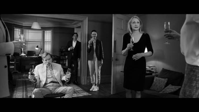 Timothy Spall (Bill), Cillian Murphy (Tom), Kristin Scott Thomas (Janet) en Patricia Clarkson (April)