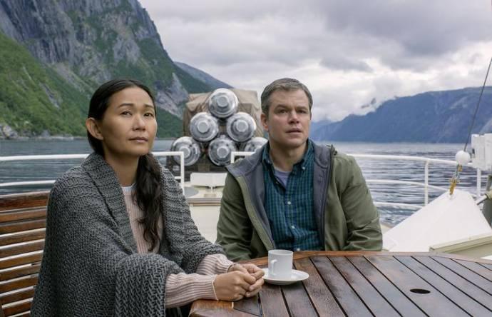 Hong Chau (Ngoc Lan Tran) en Matt Damon (Paul Safranek)