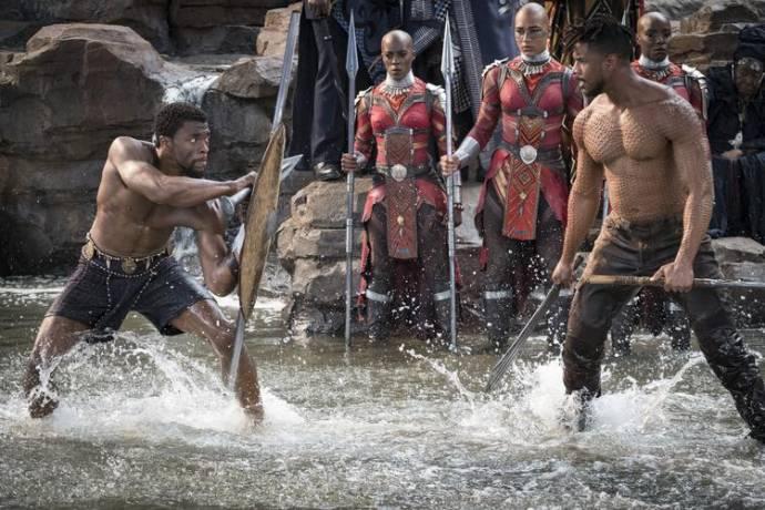 Chadwick Boseman (T'Challa / Black Panther) en Michael B. Jordan (Erik Killmonger)