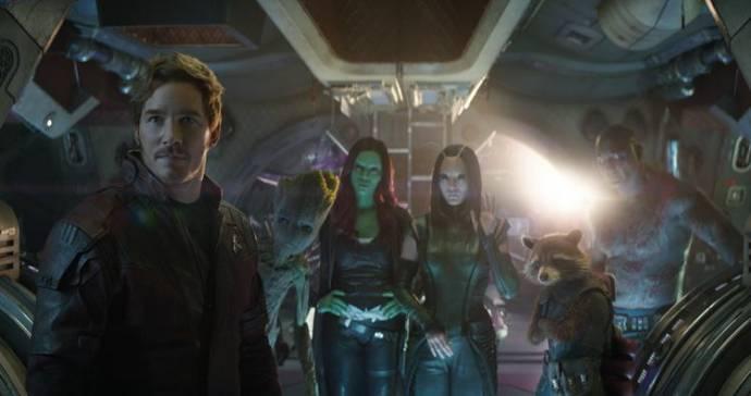 Chris Pratt (Peter Quill / Star-Lord) en Zoe Saldana (Gamora)