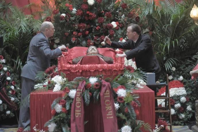 Steve Buscemi (Nikita Khrushchev) en Adrian McLoughlin (Joseph Stalin)