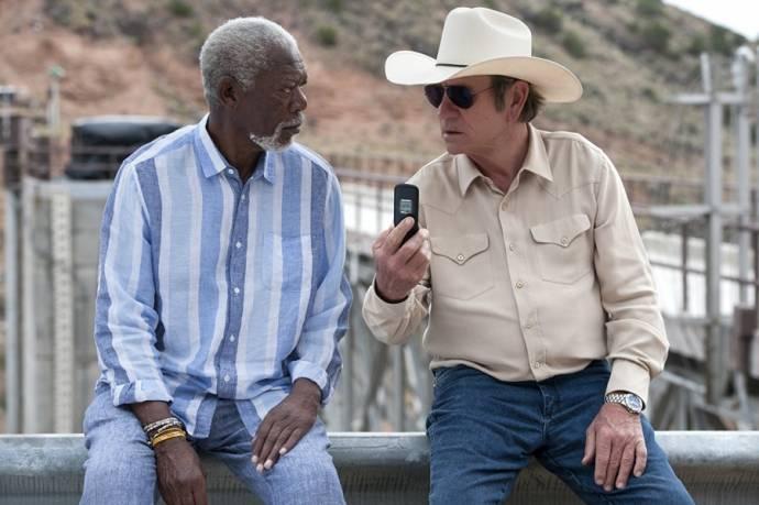 Morgan Freeman (Duke) en Tommy Lee Jones (Leo)