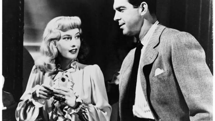 Barbara Stanwyck (Phyllis Dietrichson) en Fred MacMurray (Walter Neff)