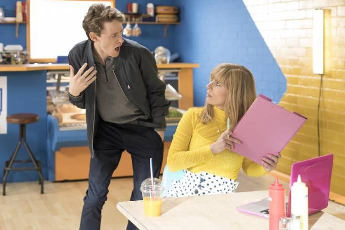 Nick Golterman (Ijsbrand) en Marit Brugman (Marit) in De Film van Dylan Haegens