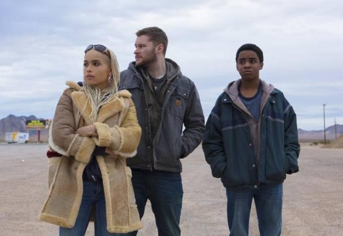 Zoe Kravitz, Jack Reynor en Myles Truitt (Eli) in Kin