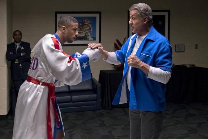 Michael B. Jordan (Adonis Johnson) en Sylvester Stallone (Rocky Balboa)