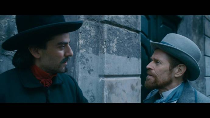 Oscar Isaac (Paul Gauguin) en Willem Dafoe (Vincent Van Gogh)
