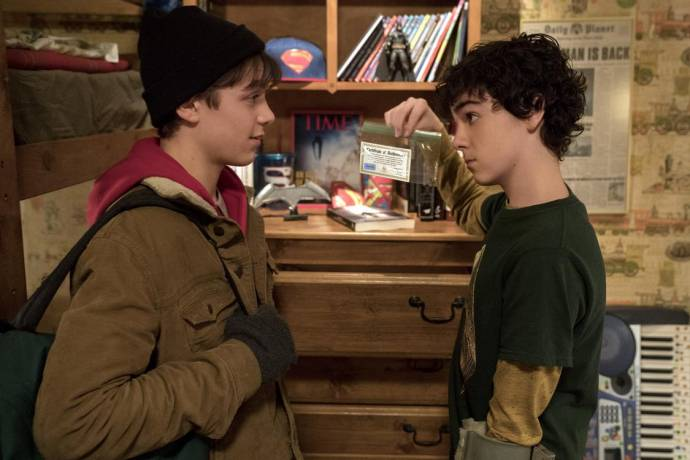 Jack Dylan Grazer (Freddy Freeman) en Asher Angel (Billy Batson)