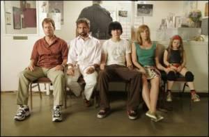Abigail Breslin (Olive), Steve Carell (Frank), Toni Collette (Sheryl), Paul Dano (Dwayne) en Greg Kinnear (Richard)