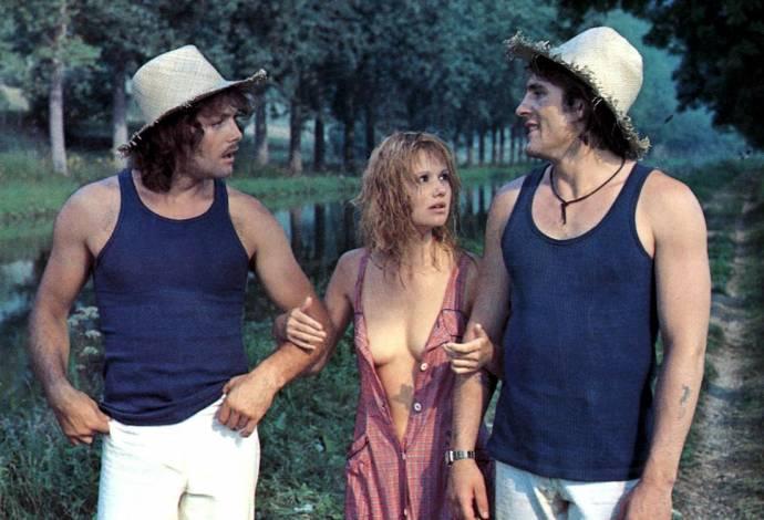 Patrick Dewaere (Pierrot), Miou-Miou (Marie-Ange) en Gérard Depardieu (Jean-Claude)